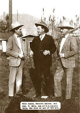 Will James, Emmett Dalton and George T. Cole